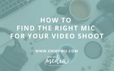 How to Find the Right Mic for Your Video Shoot