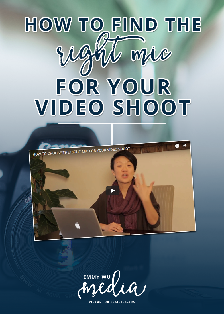 How to Find the Right Mic For Your Video Shoot | There are mics that you wear, there are mics that you can attach to your camera, there are even mics that are completely separate from your camera. What's the deal?! How do you choose the right type of mic for your video shoot when there are so many different options?