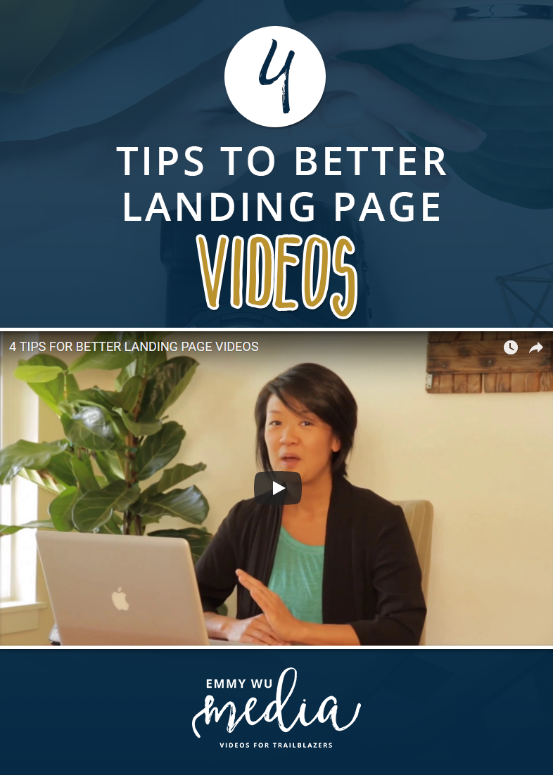4 Tips for Better Landing Page Videos | Emmy Wu Media