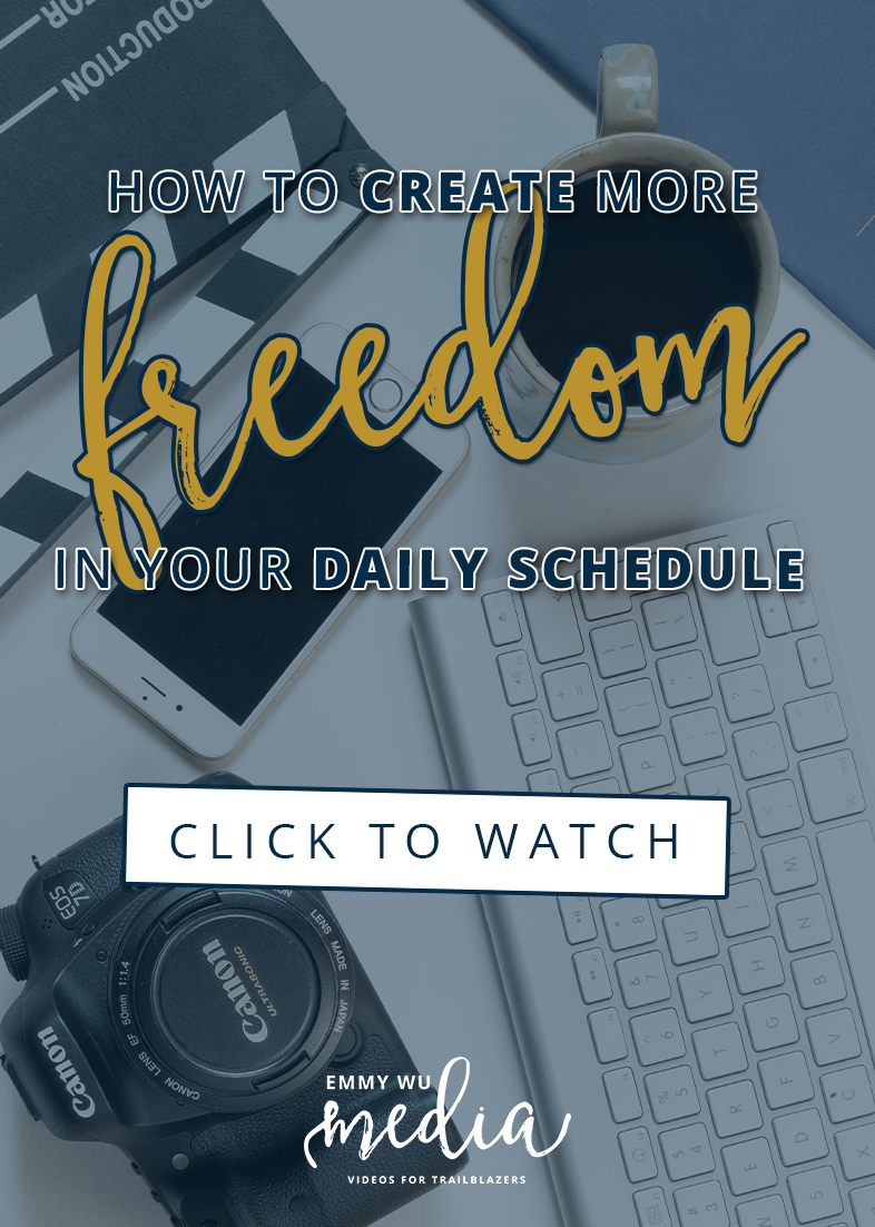 How To Create More Freedom in your Daily Schedule