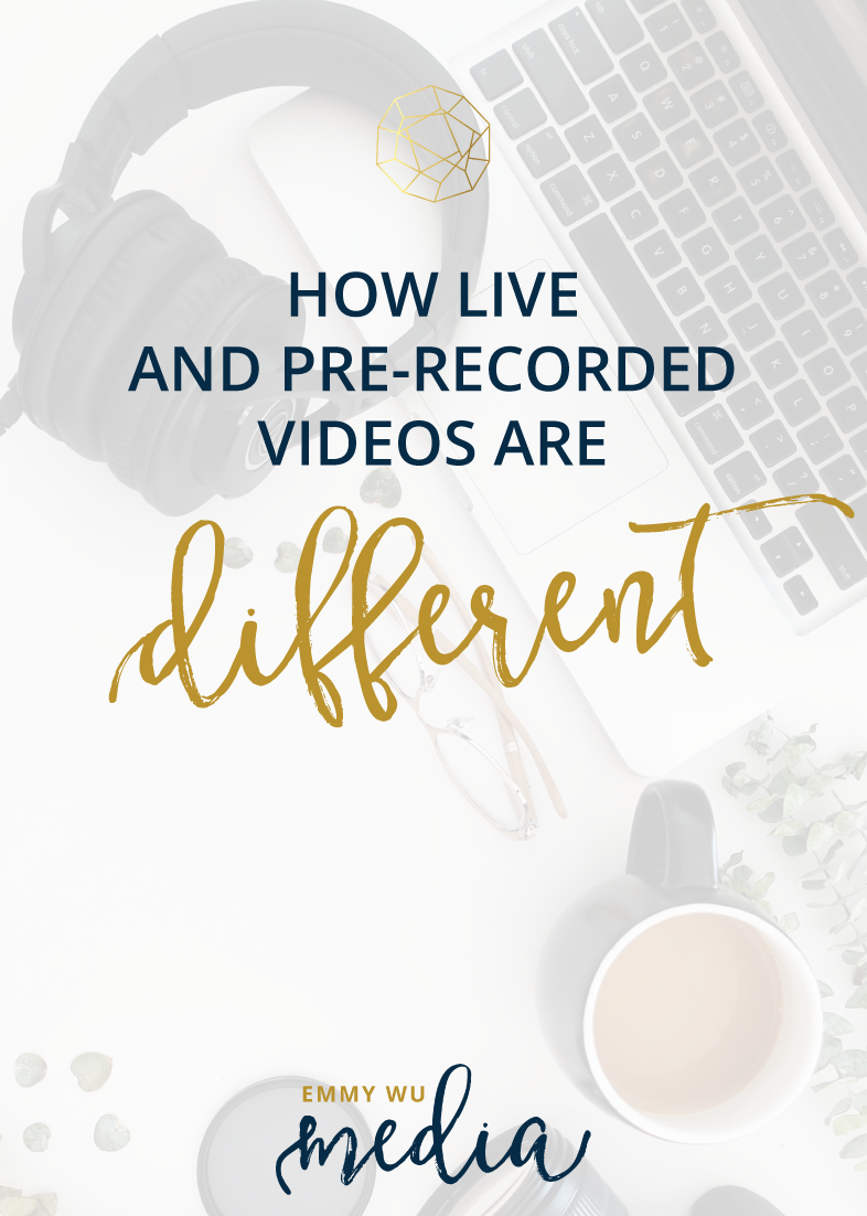How Live and Pre-Recorded Videos are Different | Emmy Wu Media