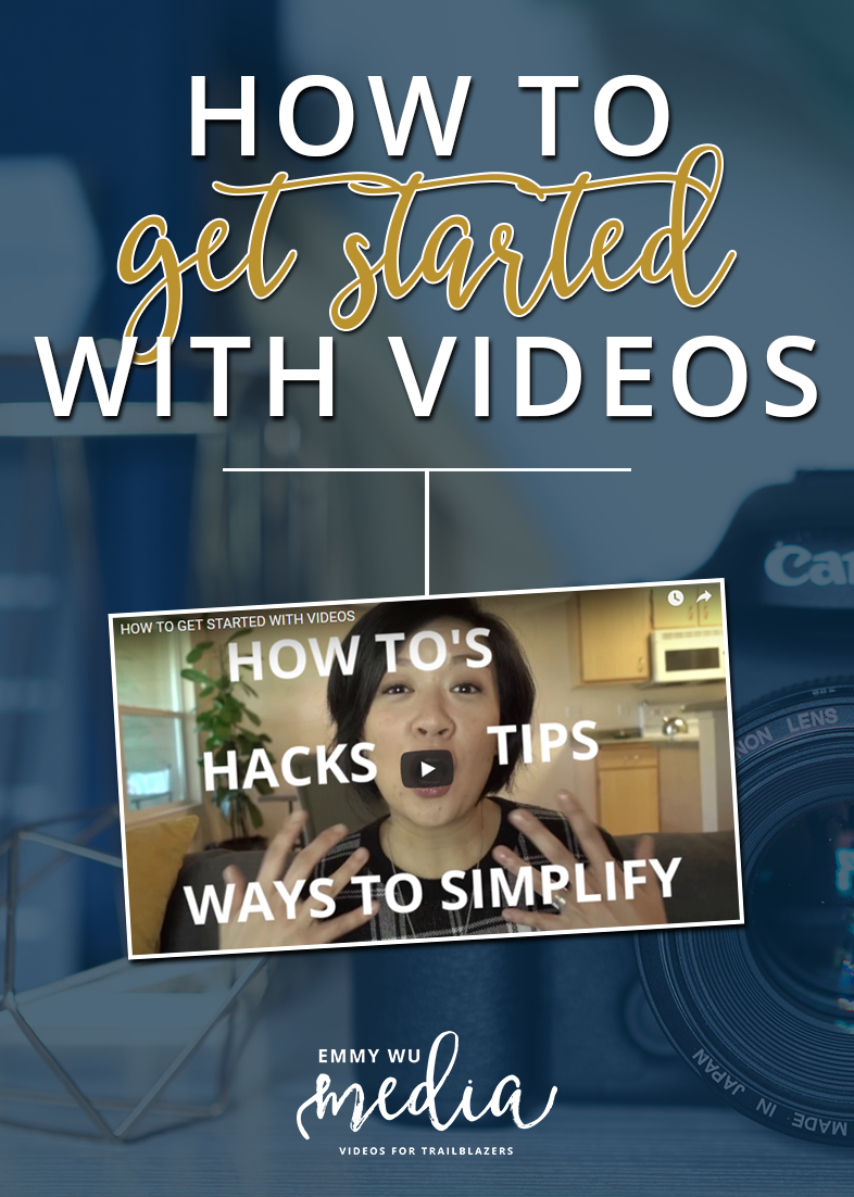 Get started with video for your business! Getting on camera and sharing your message with a wider audience can feel intimidating. It can also feel overwhelming with all the tools and tech you need just to get started! Read this post to find out how to get started with videos.