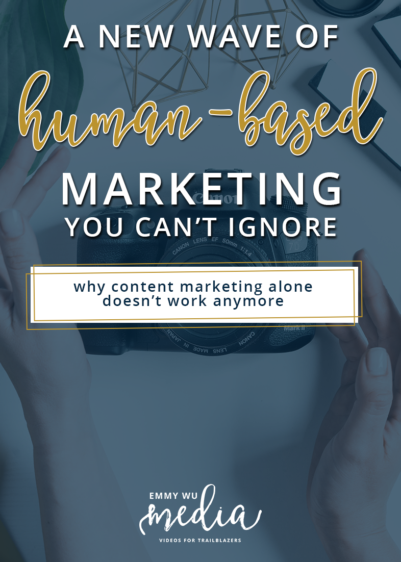 There's a new wave of human-based marketing you can't ignore! For online businesses, content marketing has been one of the tried and true methods for growing your audience... but does it still work?