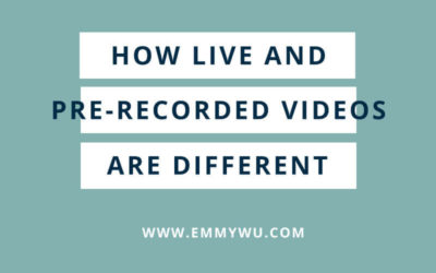 How Live and Pre-recorded Videos are Different