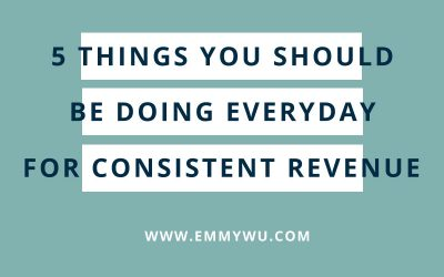 5 Things You Should Do Everyday For Consistent Income